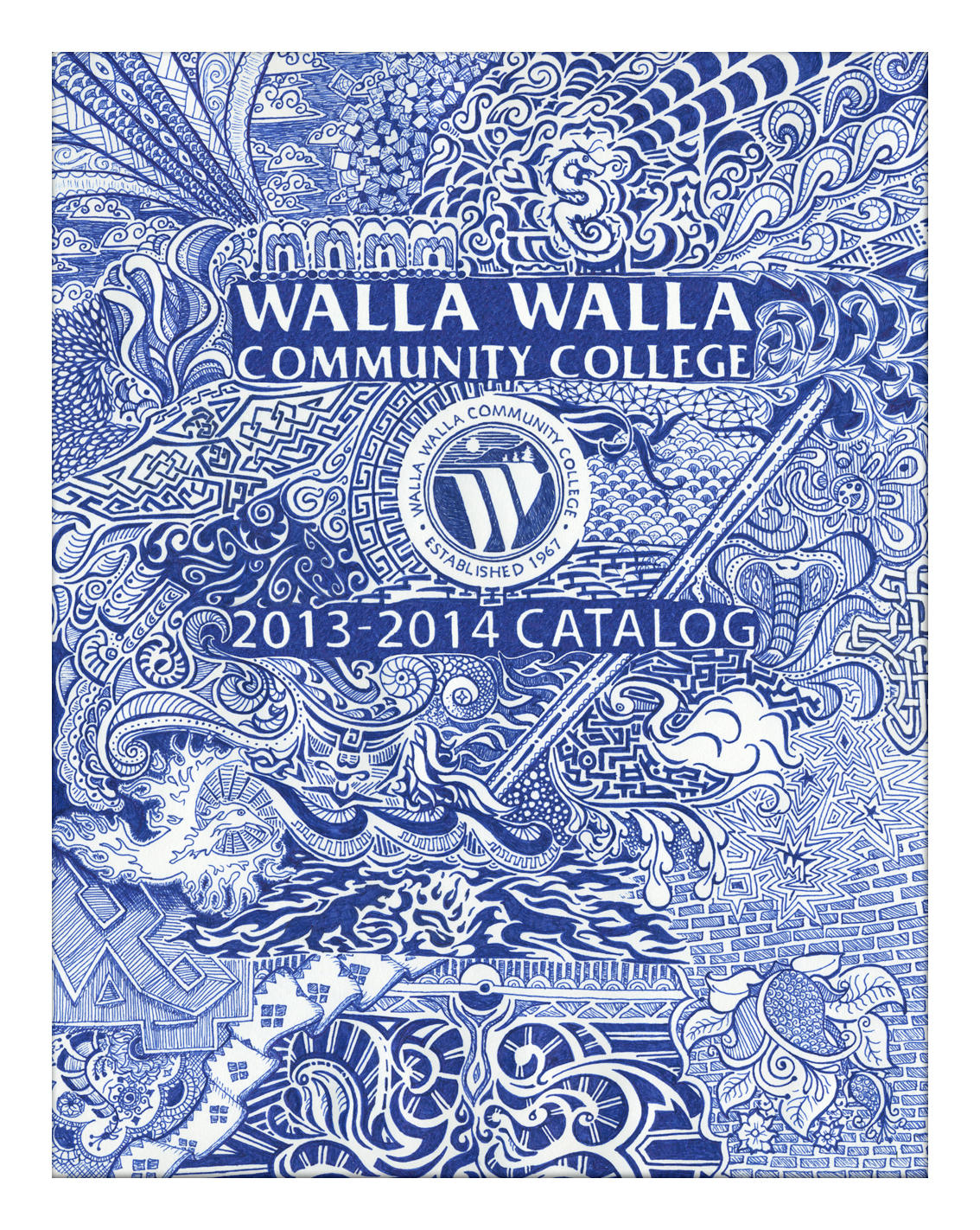 WWCC Catalog Cover 2013-14: Doodle Cover by GoaliGrlTilDeath