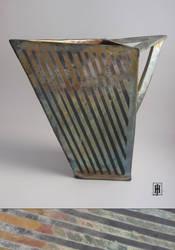 Raku Angular Vase by GoaliGrlTilDeath