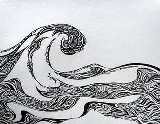 Wave Doodle by GoaliGrlTilDeath