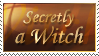 Secretly a Witch Stamp by Seiorai