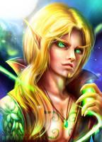 Blood Elf Warlock by Seiorai