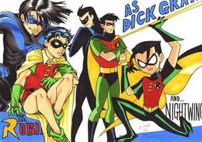 Various Dick Grayson by SamuraiHimenoji