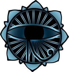 eye of ra lotus tatoo flash by airbournevirus