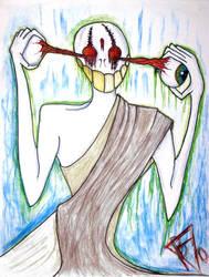 eyeless monk by airbournevirus
