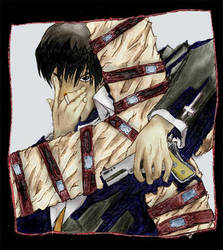 trigun fanart- wolfwood color by airbournevirus