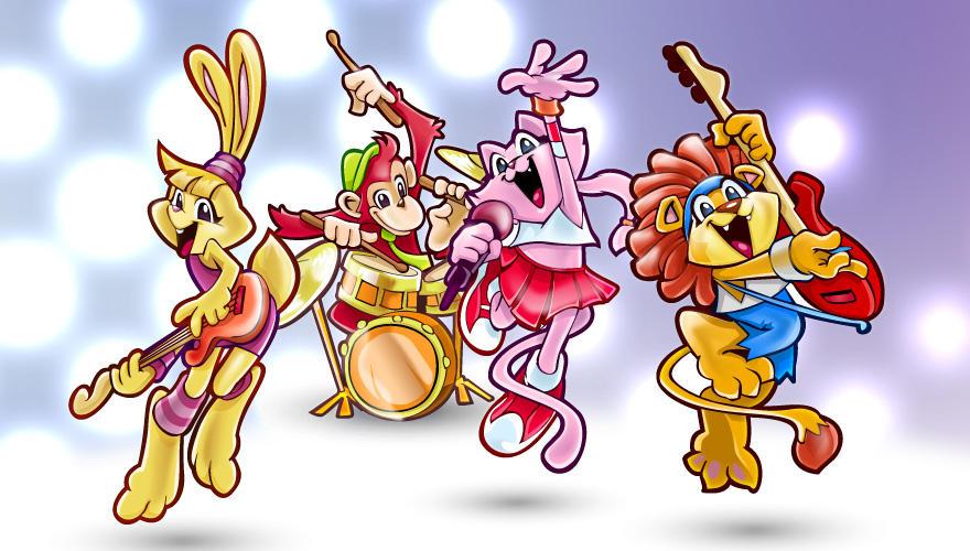 Vector Animals Rock Band by Pixeden