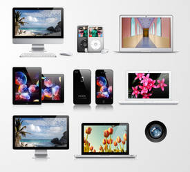 Free Apple Product Vector Pack by Pixeden