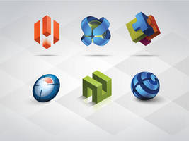 Free 3D Logo Templates Set by Pixeden