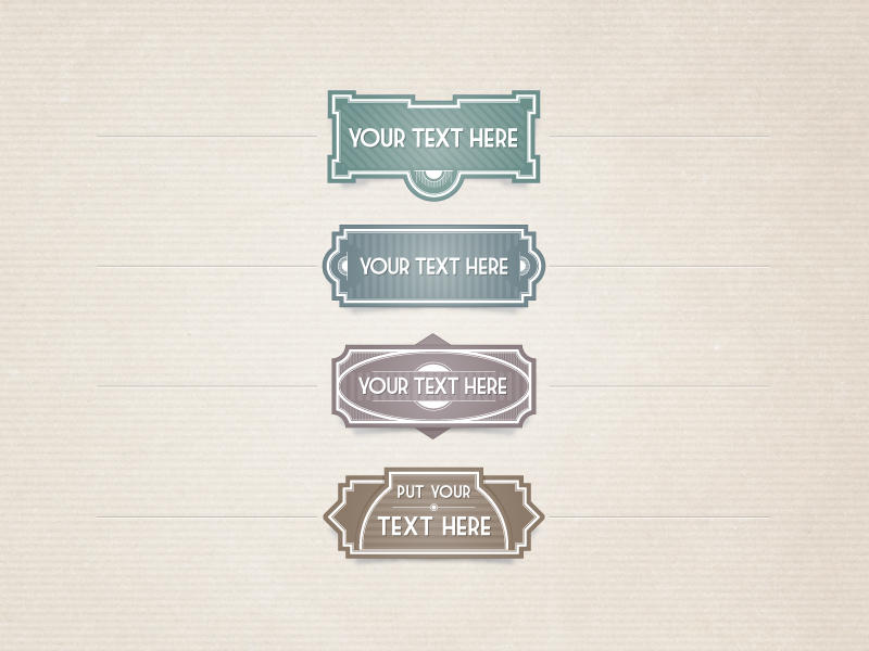 Free Vector Vintage Labels by Pixeden