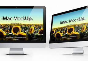 Free iMac Psd Mockup Template by Pixeden