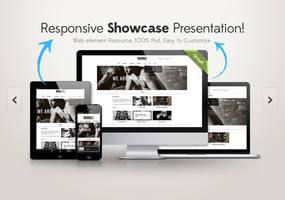 Responsive Showcase Psd by Pixeden