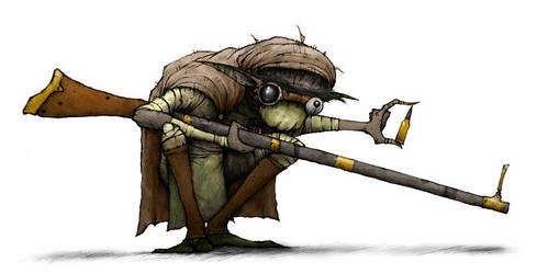 Goblin Sniper by Plognark