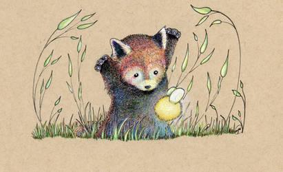 Mischievous Panda by NickiDoodles