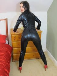 New Model Rahel in Latex Catsuit by BritBastard