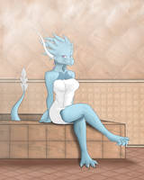 Sauna Beauty by Lyorenth-The-Dragon