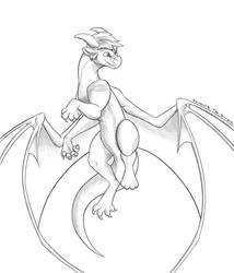 Sketch Commission - Gunter by Lyorenth-The-Dragon