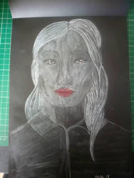 girl on white paper by ciucamona