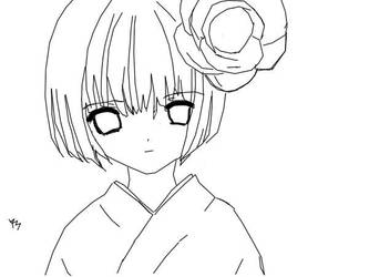 Hanako: Flower Child Lineart by Ryu--Sama