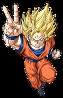 Goku Super Saiyajin 2 by arbiter720