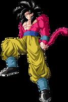 Goku Super Saiyajin 4 by arbiter720