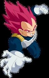 Vegeta Super Saiyajin God by arbiter720