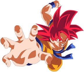 Goku Super Saiyajin God by arbiter720