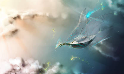 the ship in the sky by Lyken2009