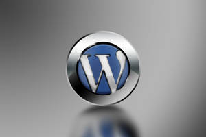 Wordpress 3D logo wallpaper by AbhishekGhosh