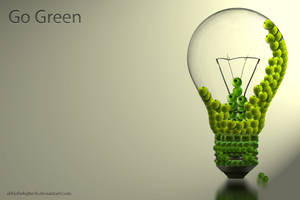 Go Green bulb by AbhishekGhosh
