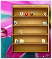 Windows 7 bookshelf for icons by AbhishekGhosh