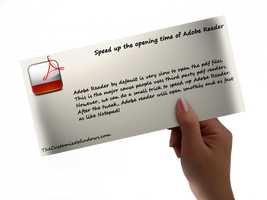 Speed up your Acrobat Reader by AbhishekGhosh