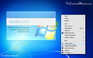 Talking clock in right click by AbhishekGhosh