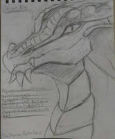 Baldur's gate charname sketch by synnworld