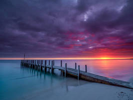 Sunrise over Quindalup Boat Ramp by paulmp