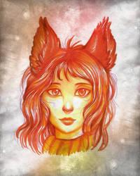Amber Portrait by RoyalThebat