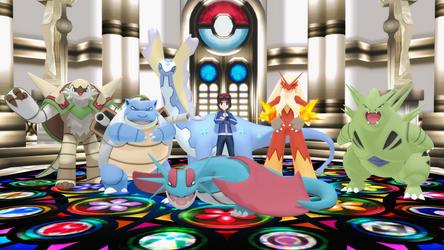 My Team From Pokemon Y (MMD Version) by Dragonlordmedia