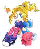 Pink piggy-ribbon by FantasyHeart