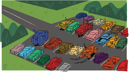 Parking Lot by Lotusbandicoot