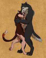 COM- Couple Hug by Trollberserker