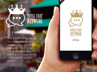 Royal Chat Network App Design by atifarshad