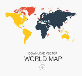 World Map Vector by atifarshad