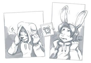 COM- Bunny Hood by CatbeeCache