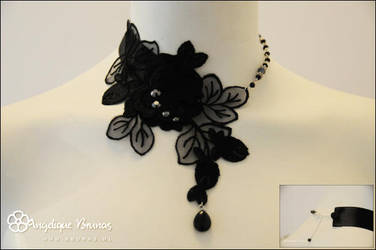 :: Choker black rose :: by Liek
