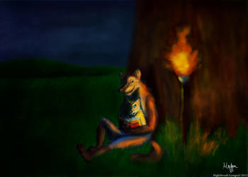Werewolf's Child by Nightbrush-Longtail