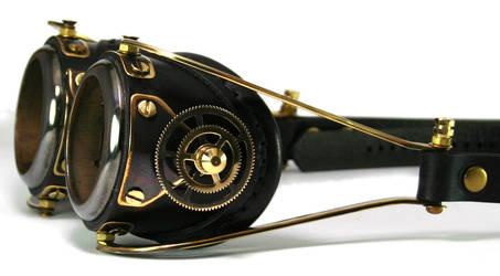 Blackened brass Goggles by AmbassadorMann