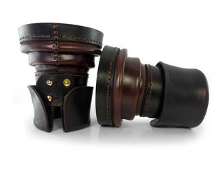 Steampunk Leather Bracers by AmbassadorMann