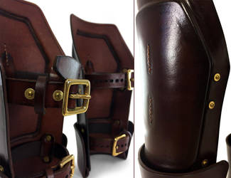 Steampunk Leather Bracers 5 by AmbassadorMann
