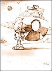 Sonic and Robotnik by Protazerg