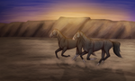 when we run, we run together. by sokaede