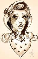 Rockabilly sketch by CupcakeAshley